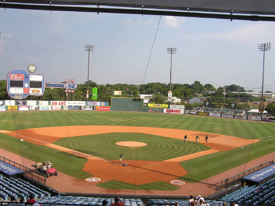 Greer Stadium - From behind Home Plate - Nashville