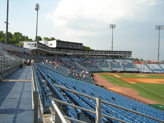 The stands at Greer Stadium - Nashville