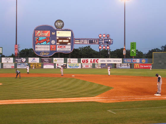 Another view of the Scoreboard - Greer Stadium